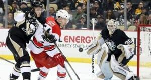 Sergei Plotnikov and Matt Murray of the Pittsburgh Penguins