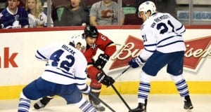 Tyler Bozak and Dennis Wideman