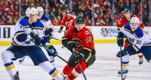 Jay Bouwmeester and Johnny Gaudreau