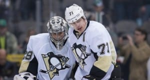 Marc-Andre Fleury and Evgeni Malkin