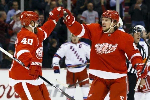 Detroit Red Wings and New York Rangers