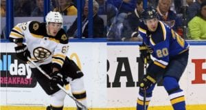 Alex Steen and Brad Marchand