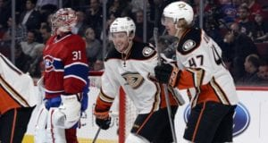 Cam Fowler and Hampus Lindholm of the Anaheim Ducks