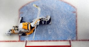 The Boston Bruins are interested in Pittsburgh Penguins goalie Mike Condon