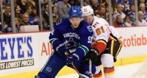 Bo Horvat of the Vancouver Canucks
