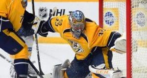 Nashville Predators goalie Pekka Rinne is day-to-day