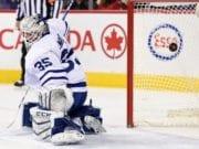 The Toronto Maple Leafs waive Jhonas Enroth