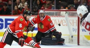 Corey Crawford has been back on the ice for the past three days