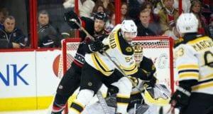 Adam McQuaid of the Boston Bruins