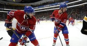 Mikhail Sergachev and Alex Galchenyuk of the Montreal Canadiens