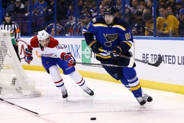 The Montreal Canadiens and St. Louis Blues have spoken about Patrik Berglund