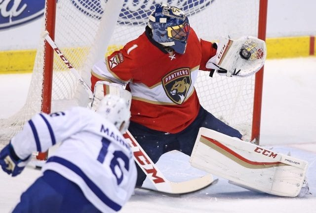 Roberto Luongo and Mitch Marner both left their games last night in the third period