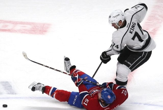 The Los Angeles Kings trade Dwight King to the Montreal Canadiens