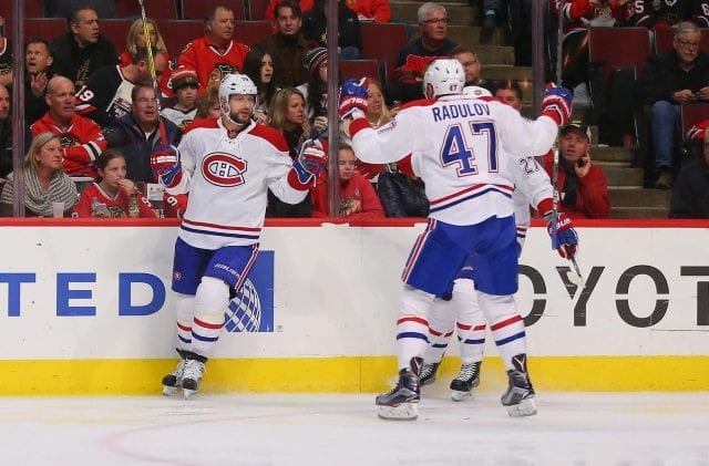 Montreal Canadiens pending free agents Alex Radulov and Andrei Markov