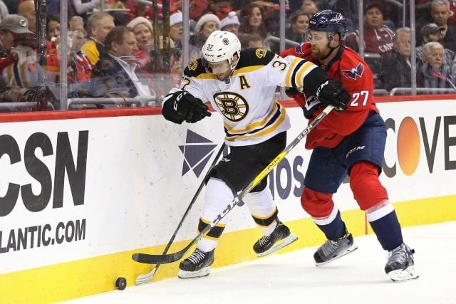 Boston Bruins forward Patrice Bergeron should be able to go tomorrow