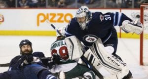 Winnipeg Jets goalie Ondrej Pavelec could be done for the year