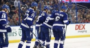 Tyler Johnson was one of three Tampa Bay Lightning centers that was injured last night