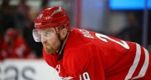 Bryan Bickell scores a shootout goal in his final NHL game