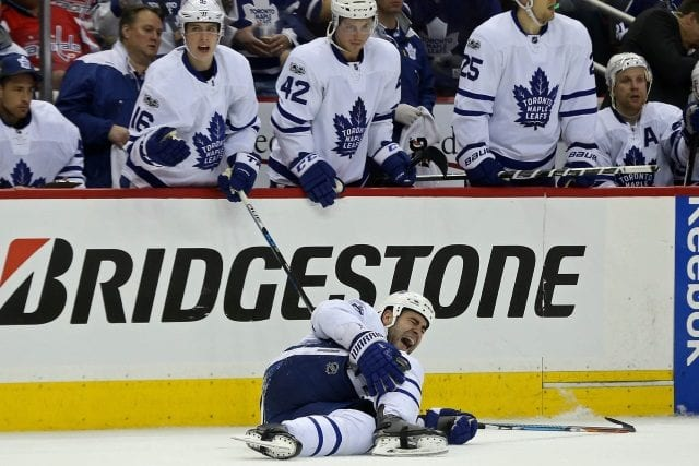 Toronto Maple Leafs defenseman Roman Polak is done for the season