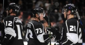 Marian Gaborik and Tyler Toffoli of the Los Angeles Kings