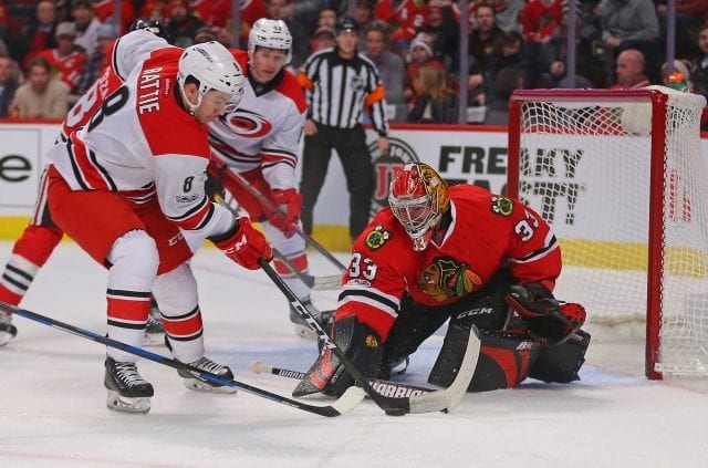 Could the Carolina Hurricanes look at pending free agent goalie Scott Darling?