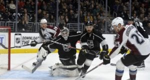 Mikhail Grigorenko against the Los Angeles Kings