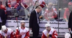 Detroit Red Wings head coach Jeff Blashill