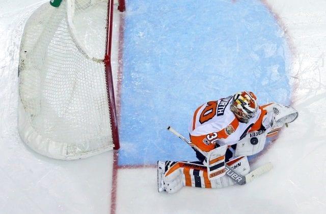 Michal Neuvirth of the Philadelphia Flyers