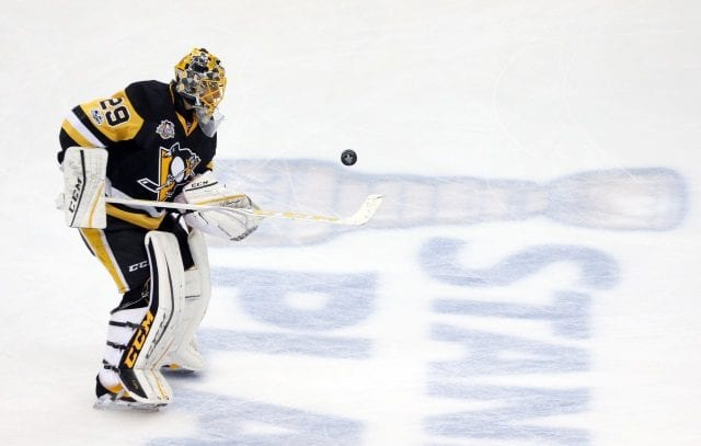 Talk that the Pittsburgh Penguins and Vegas Golden Knights have a trade in place for Marc-Andre Fleury