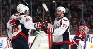 Washington Capitals Karl Alzner and Brett Connolly