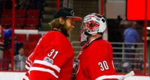 Carolina Hurricanes could have three goalies under contract next year - Eddie Lack, Cam Ward and Scott Darling