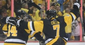 Pittsburgh Penguins forwards Chris Kunitz and Matt Cullen