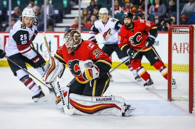 Chad Johnson could end up back with the Calgary Flames as a free agent