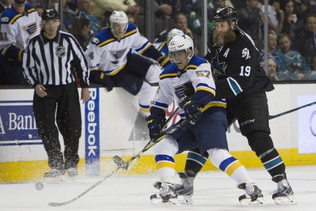 The St. Louis Blues could fill David Perron's spot internally. Blues could look at Joe Thornton