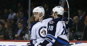 Winnipeg Jets Bryan Little and Nikolaj Elhers