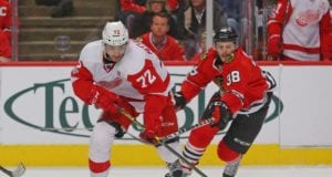 The KHL remains an option for Andreas Athanasiou, but it's more likely he re-signs with the Detroit Red Wings