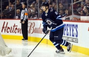 Winnipeg Jets defenseman Jacob Trouba received a match penalty last night