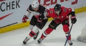 Kyle Turris and Kyle Palmieri
