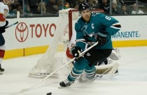 San Jose Sharks captain Joe Pavelski is playing through an injury