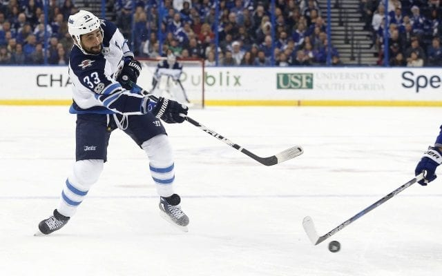 nseman Dustin Byfuglien is week-to-week with a lower-body injury.