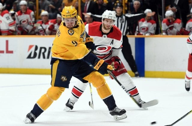 The Nashville Predators put Filip Forsberg on the IR.