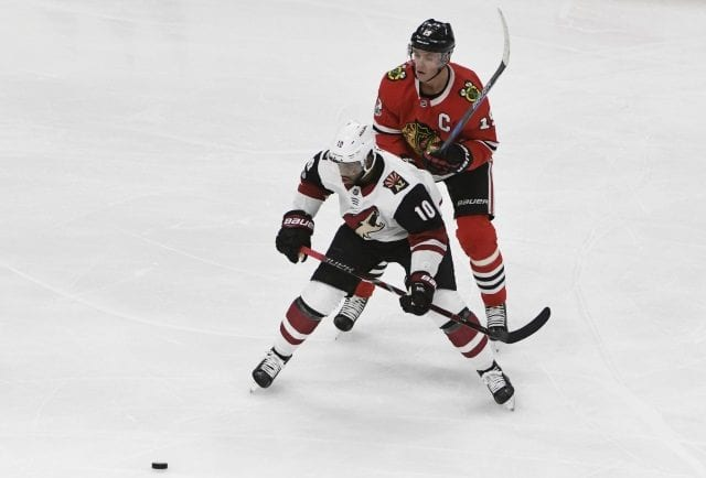 The Arizona Coyotes trade Anthony Duclair and Adam Clendening to the Chicago Blackhawks for Richard Panik and Laurent Dauphin.