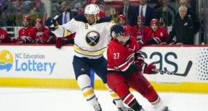 Buffalo Sabres Evander Kane and Carolina Hurricanes Justin Faulk
