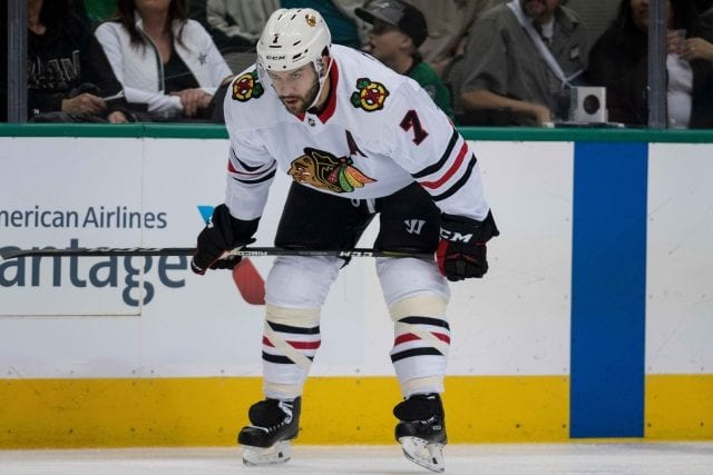 The Chicago Blackhawks are making defenseman Brent Seabrook a healthy scratch tonight.