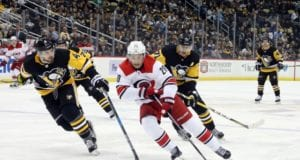 Hurricanes Sebastian Aho out with lower-body injury.
