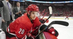 Sebastian Aho has a concussion and a lower-body injury