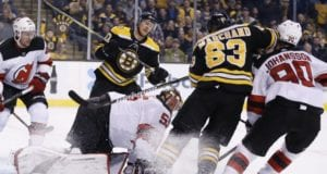 Brad Marchand suspended for five games. Marcus Johansson out with a concussion