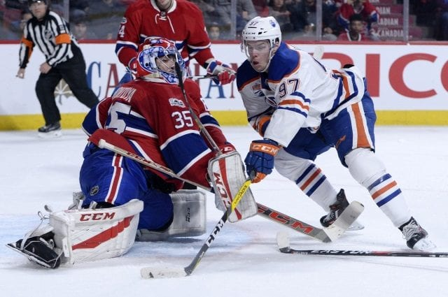 The Montreal Canadiens trade Al Montoya to the Edmonton Oilers.