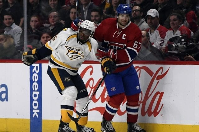 The Nashville Predators could be one of the teams that would interested in Montreal Canadiens Max Pacioretty.