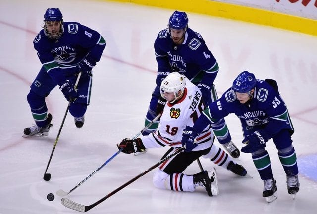 Vancouver Canucks and Chicago Blackhawks